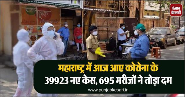 39923 new cases of corona in maharashtra today 695 patients succumbed