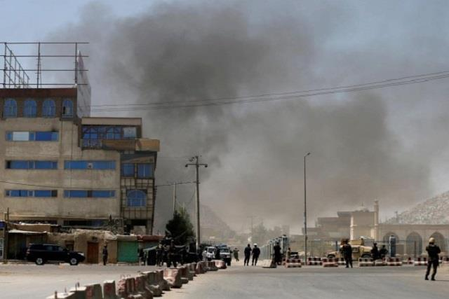 bomb explodes near school in afghanistan 21 wounded