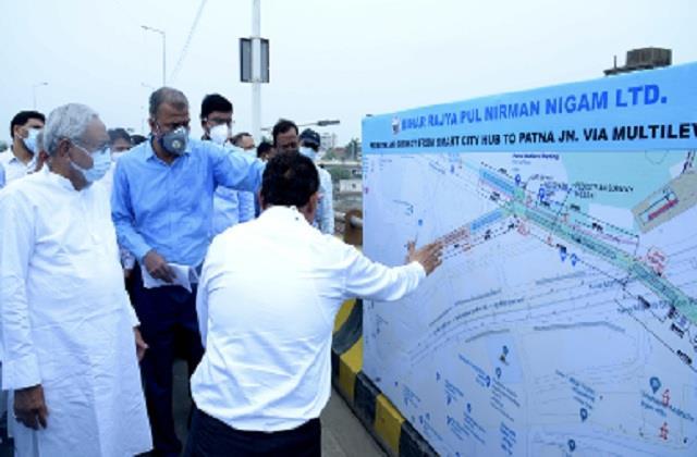 cm took ground review of redevelopment of patna railway station scheme