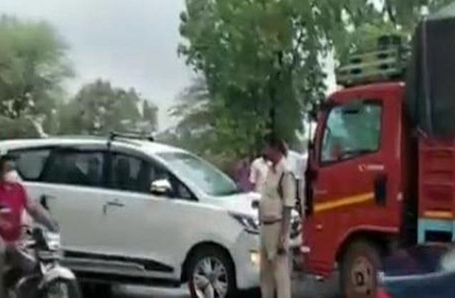 truck hit congress mla s car