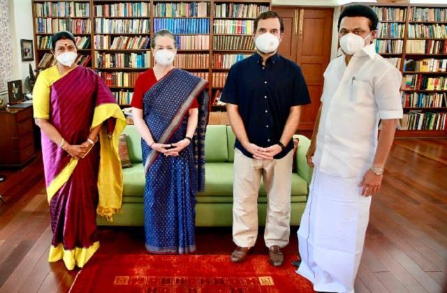 tamil nadu chief minister m k stalin rahul gandhi