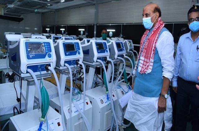 rajnath singh covid dedicated hospital