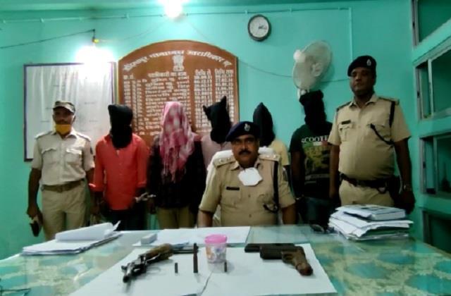 muzaffarpur police arrested 5 professional criminals