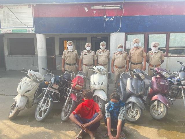 police busted vehicle theft gang 2 arrested