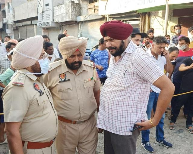 bullets fired in this area of jalandhar there was a stir