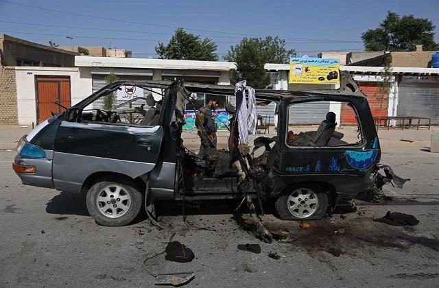 militants target mini van in afghanistan 7 killed in bomb blast