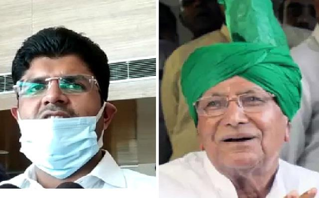 dushyant expressed happiness over the release of dada op chautala
