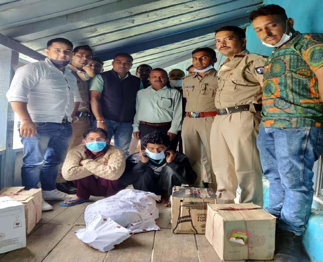 police caught huge consignment of hashish from the house