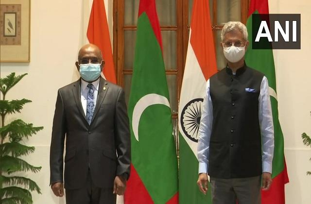 india maldives sign an agreement for community projects