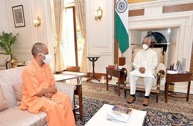 uttar pradesh chief minister yogi adityanath meets president kovind