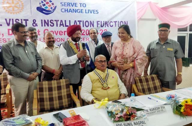 rakesh vij new chairman of rotary club palampur