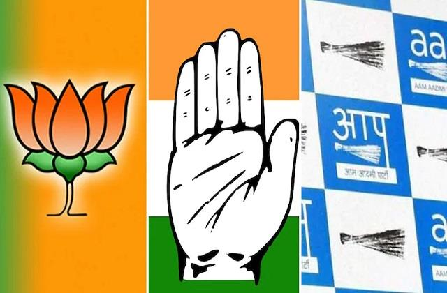 bjp congress and  aap  etc became active for the coming elections