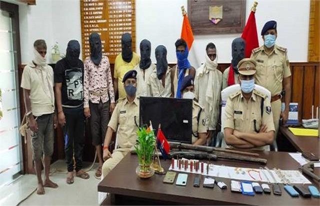 kaimur nine criminals involved in robbery arrested
