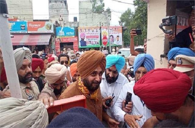 jalandhar uncontrollable crowd to see sidhu