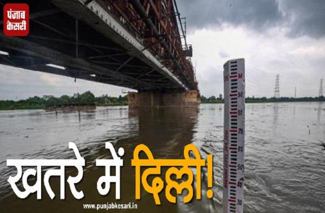 water level in yamuna rises after heavy rains