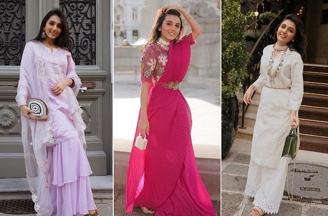 Iconic Women Style: पॉवरफुल लेडीज लुक को मासूम मीनावाला ने किया कॉपी, पुराने फैशन को दिया ट्वीस्ट