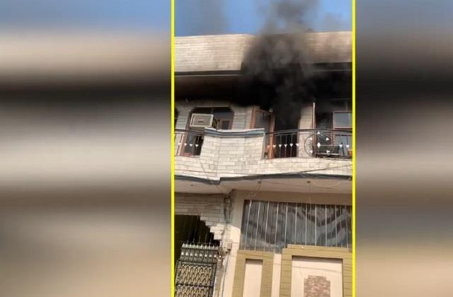terrible fire broke out in jalandhar s town stirred up