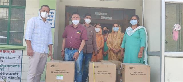 four oxygen concentrators presented to the health center holi