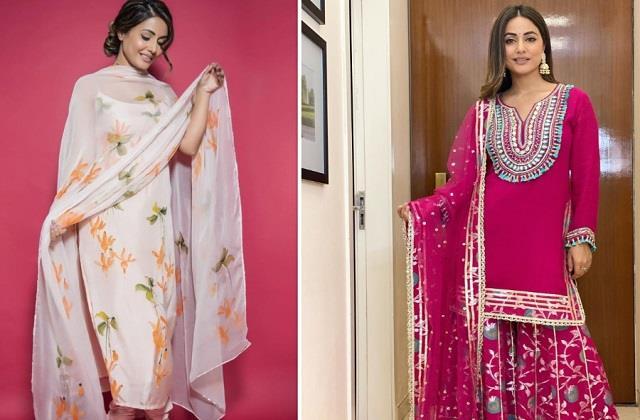 सावन में ट्रेडिशनल Outfits को दें मॉडर्न ट्विस्ट, हिना खान की क्लेक्शन से लें Idea