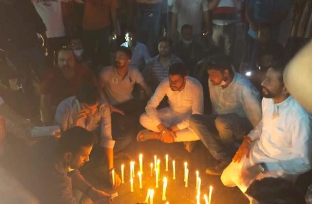 sachin jain family protesting in kapurthala chowk