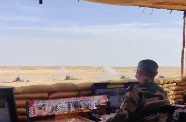 army chief naravane took stock of the firepower of various guns