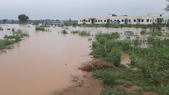 village school adopted by president submerged in water