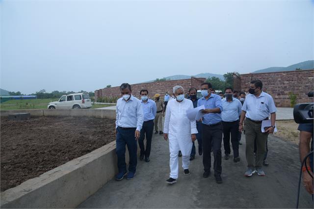 cm nitish inspects ongoing development works in zoo safari rajgir