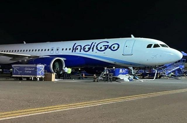 the plane going from patna to delhi damaged due to bird collision