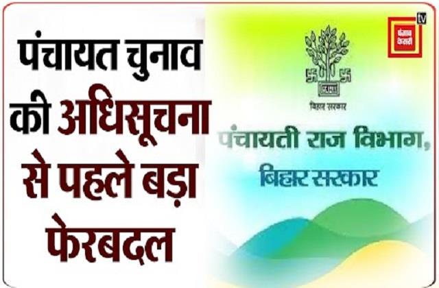 big reshuffle before notification of panchayat elections