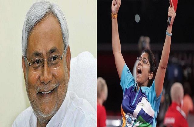 nitish congratulates bhavina ben patel for winning silver medal in paralympics