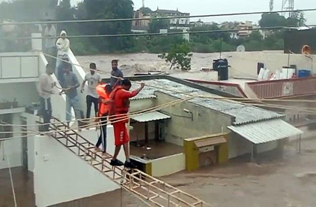 gujarat rain flood havoc in rajkot jamnagar and junagadh