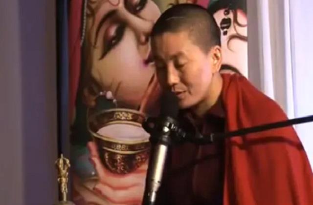 social media buddhist monk harsh goenka ani choying drolma tibetan