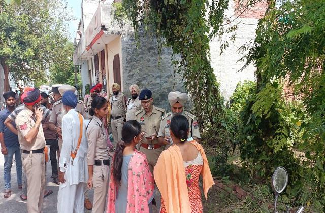 unknown person killed an elderly woman in jalandhar