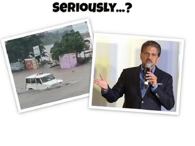 anand mahindra was shocked to see the bolero running on the flooded road