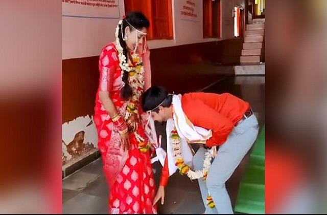 wonderful video viral of newly married couple