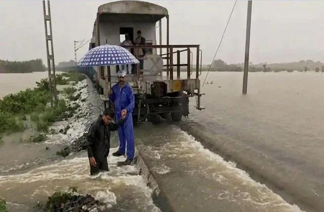 train service stopped due to floods