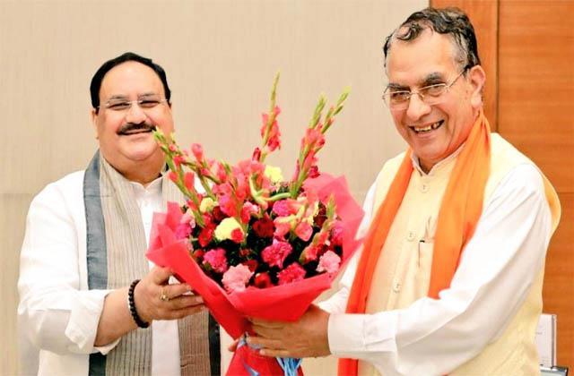 minister suresh bhardawaj meet jp nadda in delhi