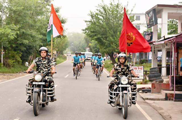 cycle rally leaves from sapri to rajghat delhi