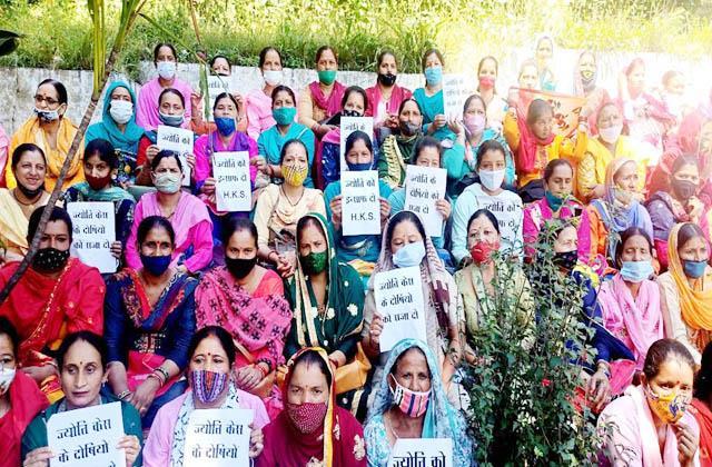 gandhi vatika resonated with slogans of justice for jyoti