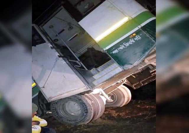 hrtc bus hangs in a ditch passengers  breath held