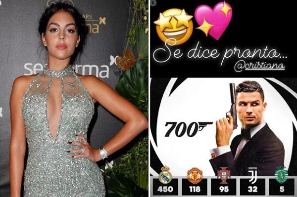 Ronaldo's 700 goals completed, girlfriend Georgina gave special gift