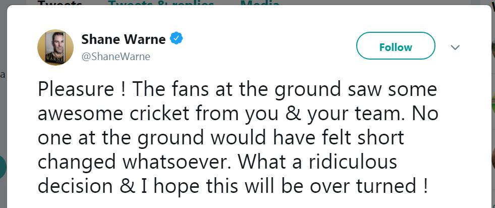 Shane Warne And ICC & Jason Holder