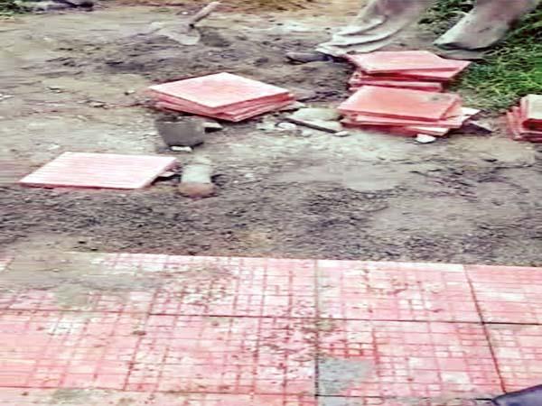 PunjabKesari, Tile Work Image