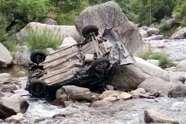 दर्दनाक हादसा : रामपुर के पांडाधार में  कार दुर्घटनाग्रस्त, 2 की मौत