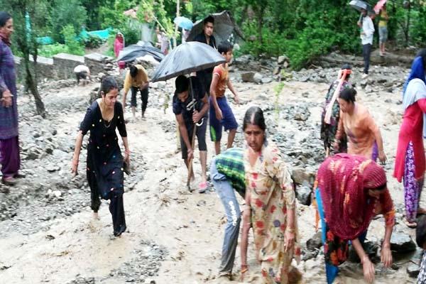 PunjabKesari, Rain Flood Image