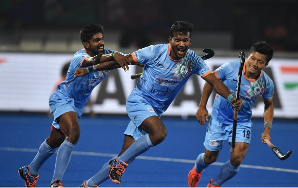 Hockey world cup : Indian beat canada to enter in quarterfinal