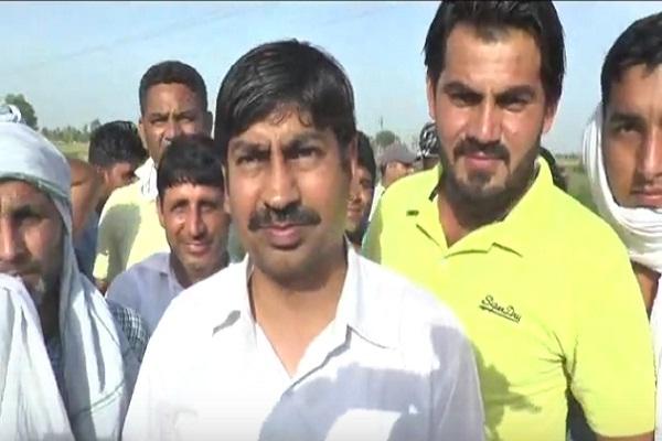 PunjabKesari, farmer, protest, suger mill