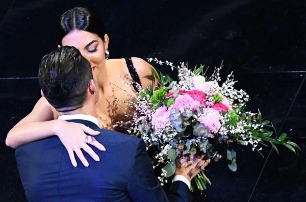 Ronaldo's girlfriend Georgina Rodriguez performance in music award