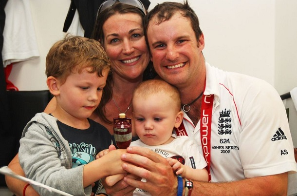 Andrew Strauss wife image