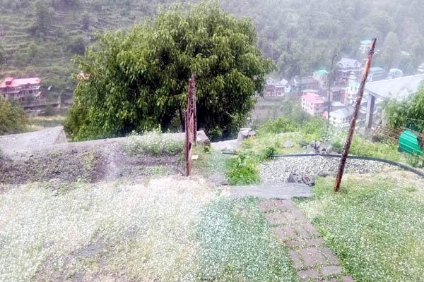 PunjabKesari, Hailstrom Image